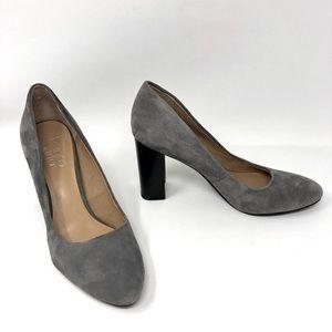 Franco Sarto Genuine Suede Block Heel Pumps Shoes